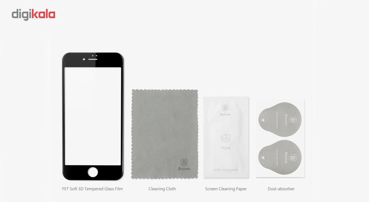 محافظ صفحه نمایش شیشه ای باسئوس مدل  Soft Pet مناسب برای گوشی موبایل اپل iPhone 7 Plus main 1 10