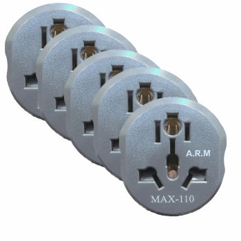 مبدل برق MAX-110 مدل 250V16A بسته 5 عددی