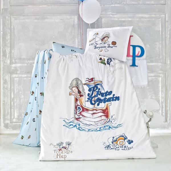 سرویس لحاف نوزادی لوکا پاتیسکا مدل Pirate آبی 4 تکه