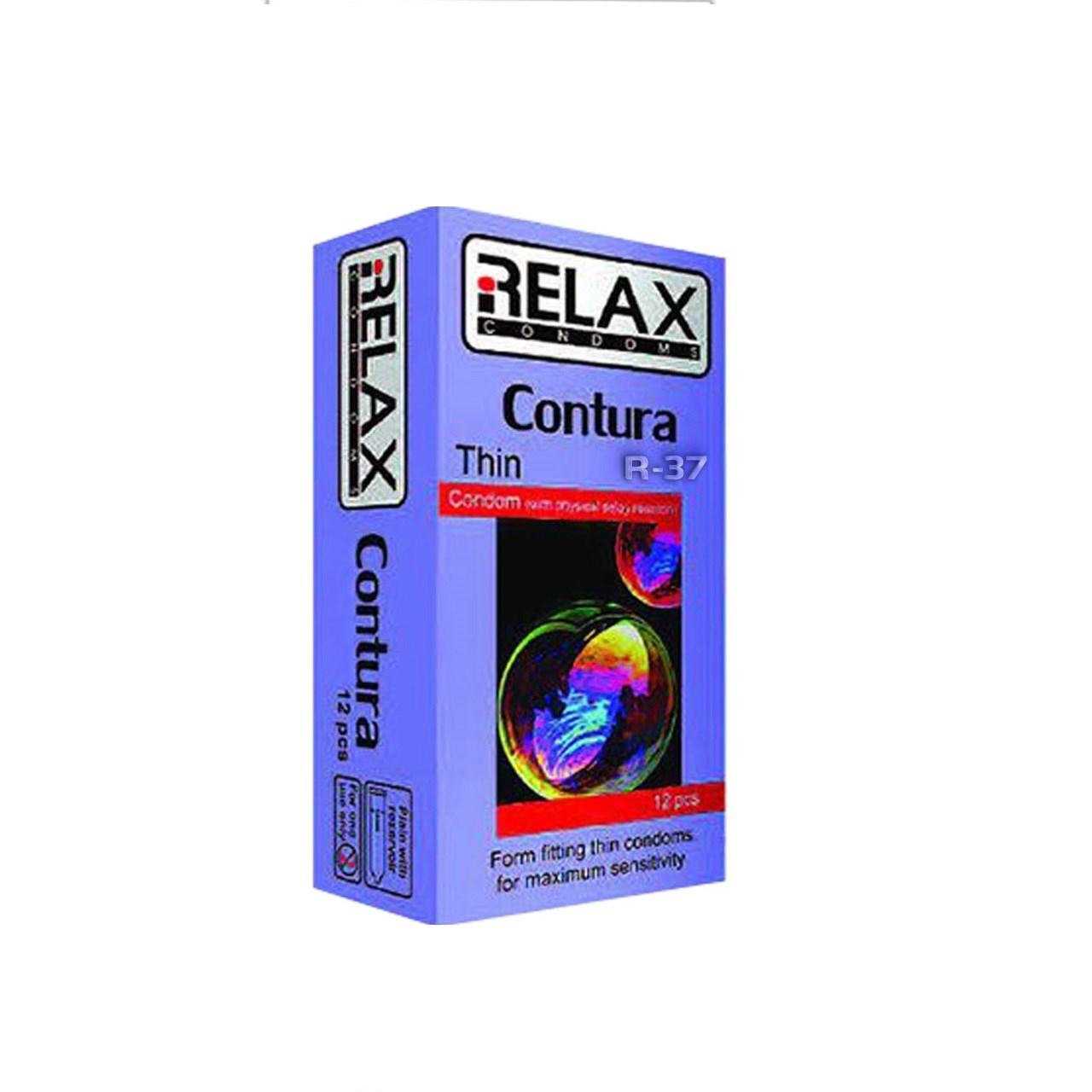 کاندوم ریلکس مدل CONTURA TINE کد R38 بسته 12عددی