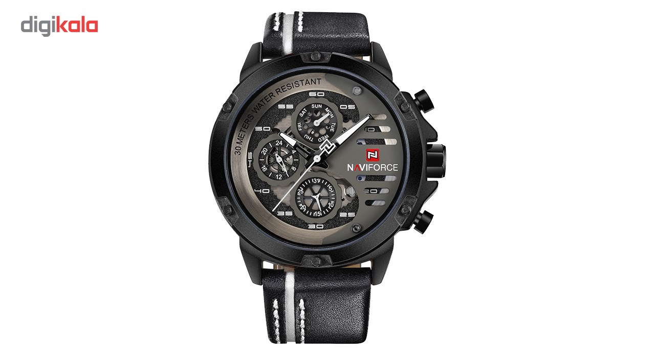 خرید ساعت مچی عقربه ای مردانه نیوی فورس مدل NF9110M/BWB