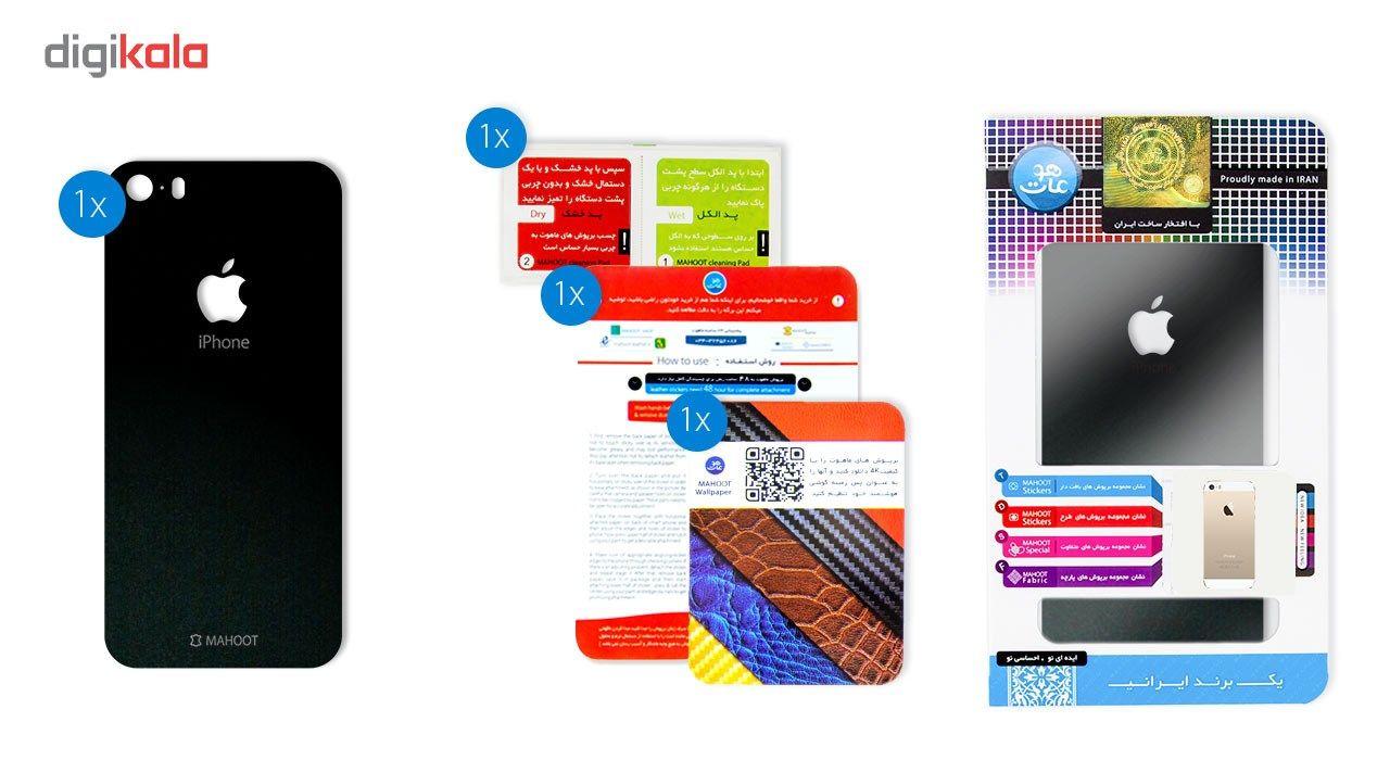 برچسب پوششی ماهوت مدل Black-suede Special مناسب برای گوشی  iPhone 5S-SE main 1 4