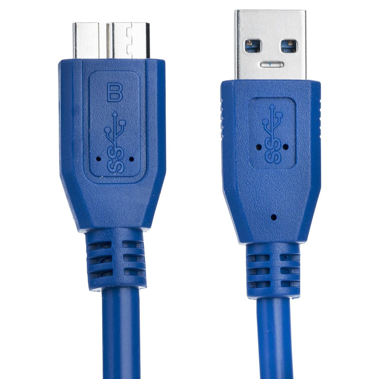 کابل تبدیل USB به micro-B پی نت مدل AM/HDD طول 1.5 متر