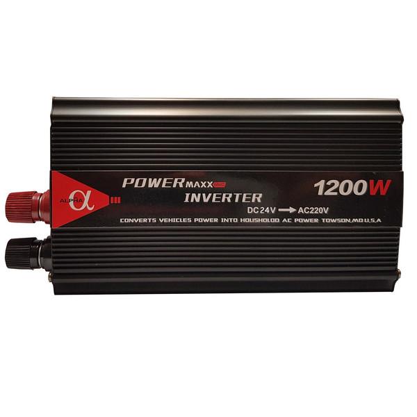مبدل برق خودرو آلفا مدل 24V-TO-220V-1200W