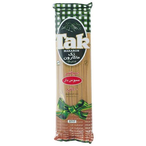 اسپاگتی حاوی سبوس تک ماکارون مقدار 500 گرمی