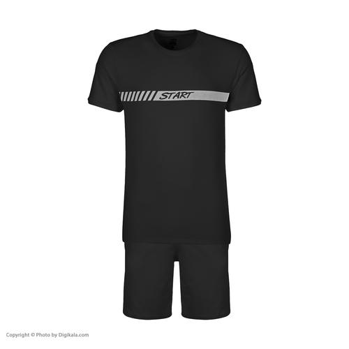 ست تی شرت و شلوارک ورزشی مردانه استارت مدل 2111125-99
