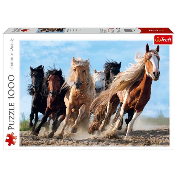 پازل 1000 تکه ترفل طرح اسب های سرگردان