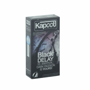 کاندوم تاخیری کاپوت مدل Black Delay  بسته 12 عددی