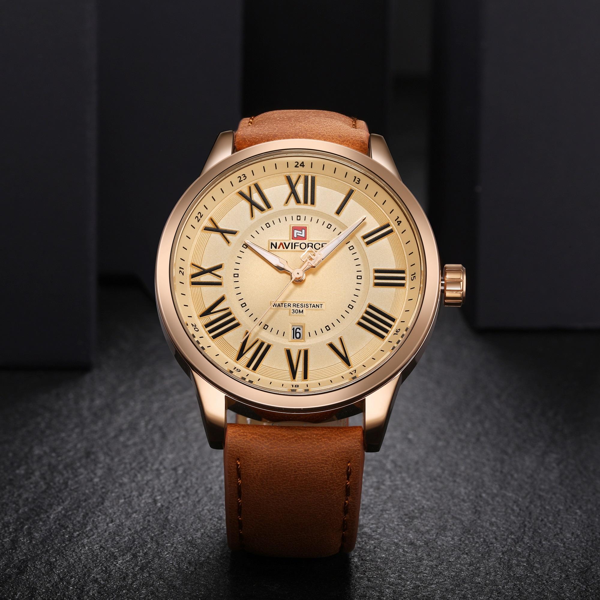 خرید                                     ساعت مچی عقربه ای مردانه نیوی فورس مدل NF9126 RG-RG-BN