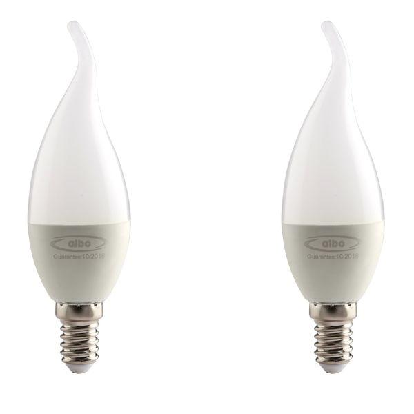 لامپ ال ای دی 5 وات البو مدل شعله ای پایه E14  بسته 2 عددی