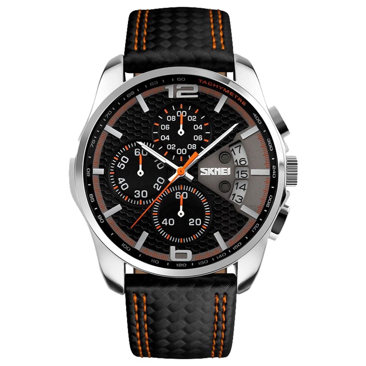 ساعت مچی عقربه ای مردانه اسکمی مدل S9106/Orange