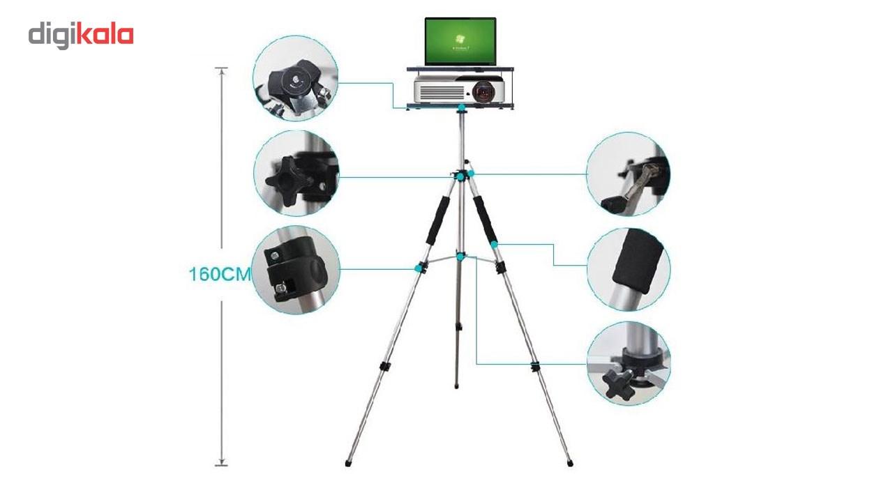 پایه پروژکتور پرتابل مدل سه پایه دار دو طبقه