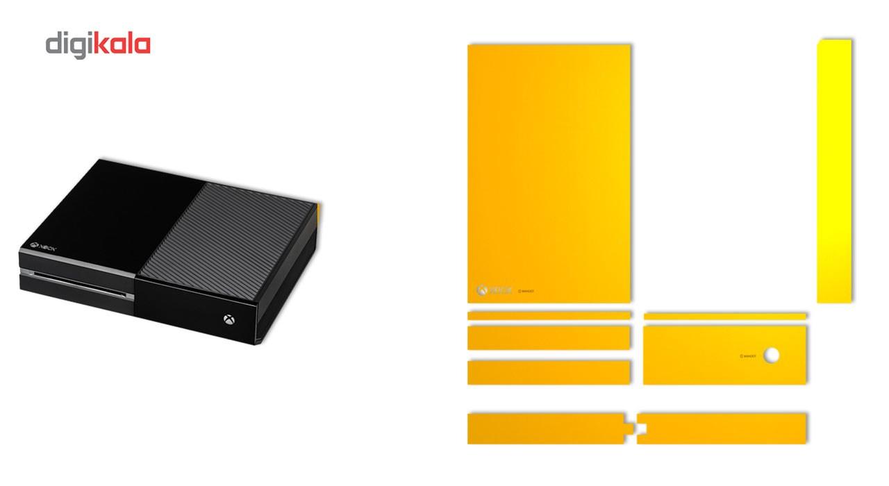 برچسب ماهوت مدلYellow Color Special  مناسب برای کنسول بازی Xbox One