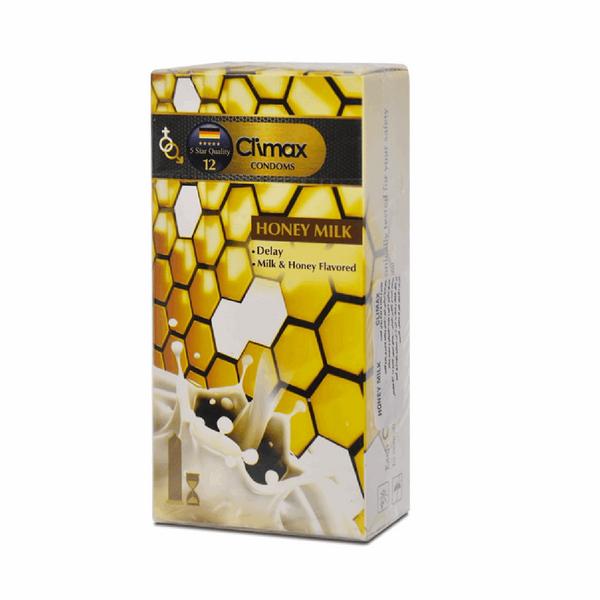 کاندوم کلایمکس مدل Honey Milk 12 بسته 12 عددی