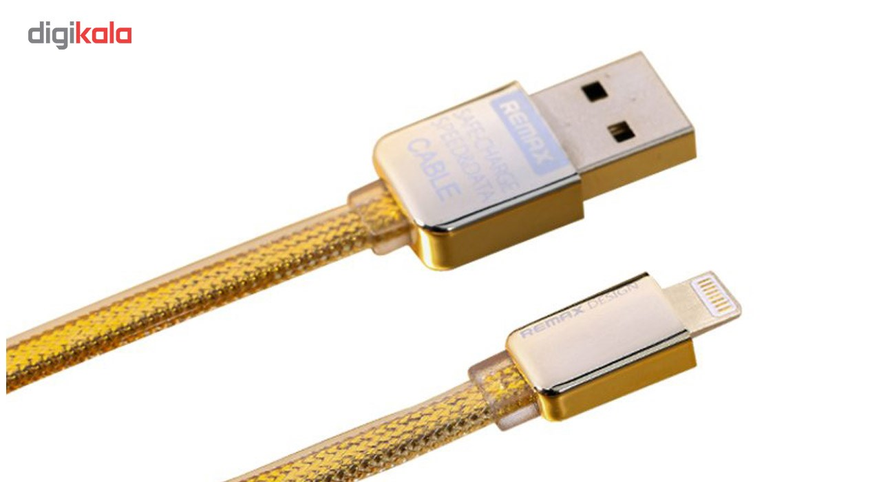 کابل تبدیل USB به لایتنینگ ریمکس مدل Gold Safe and Speed به طول 1 متر