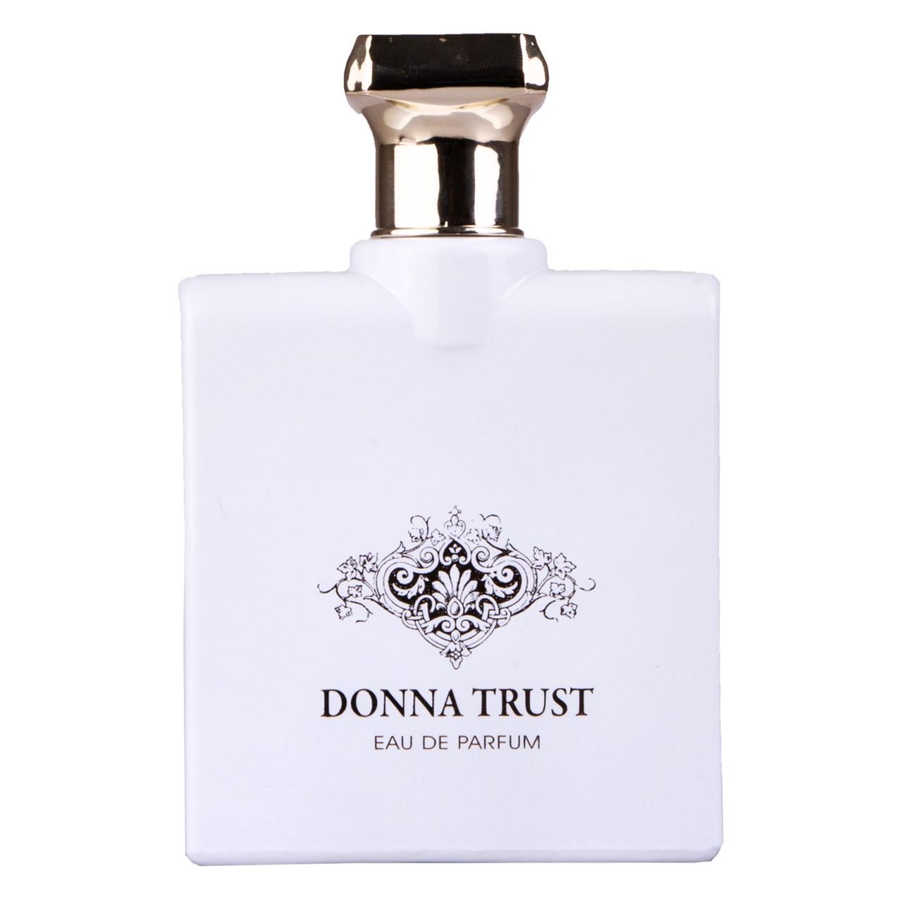 ادوپرفیوم زنانه فراگرنس ورد مدل Donna Trust حجم 100 میلی لیتر