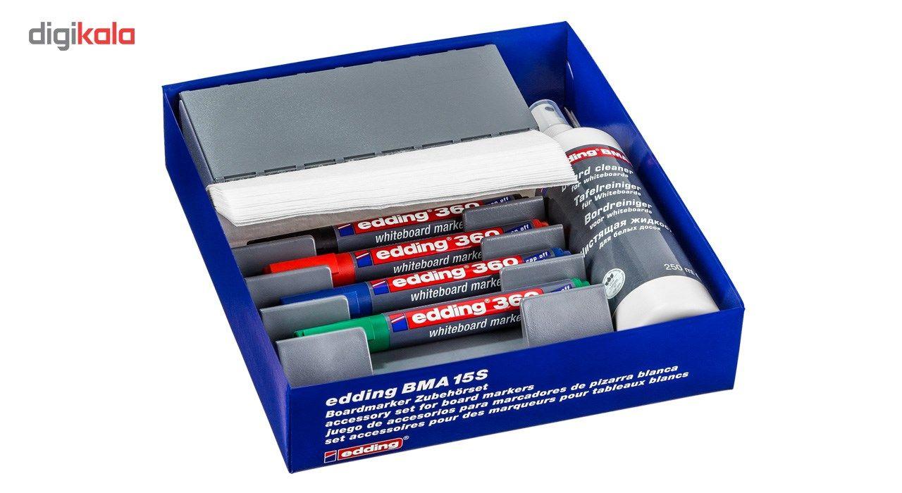 ست پاک کننده تخته وایت بورد ادینگ مدل BMA 15 S به همراه 4 عدد مازیک main 1 1