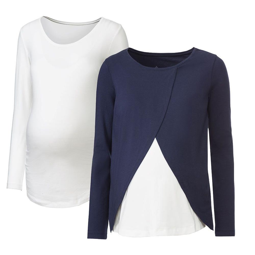 تی شرت بارداری اسمارا مدل DON-1132 مجموعه 2 عددی