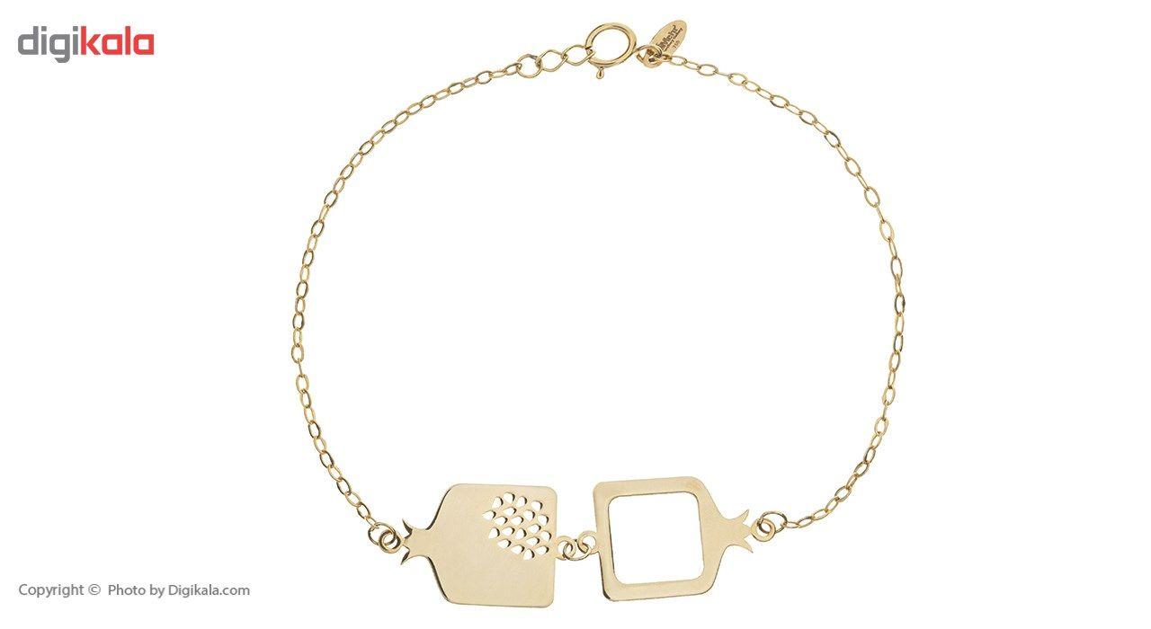 دستبند طلا 18 عیار ماهک مدل MB0256 - مایا ماهک -  - 2