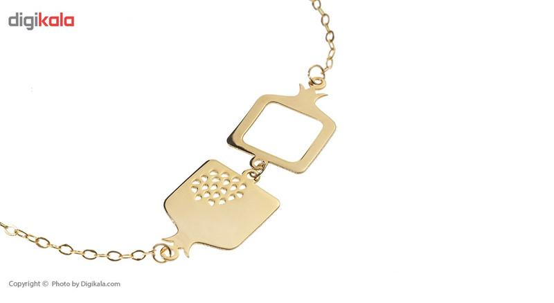دستبند طلا 18 عیار ماهک مدل MB0256