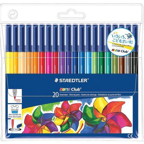 ماژیک رنگ آمیزی 20 رنگ استدلر مدل نوریس کلاب
