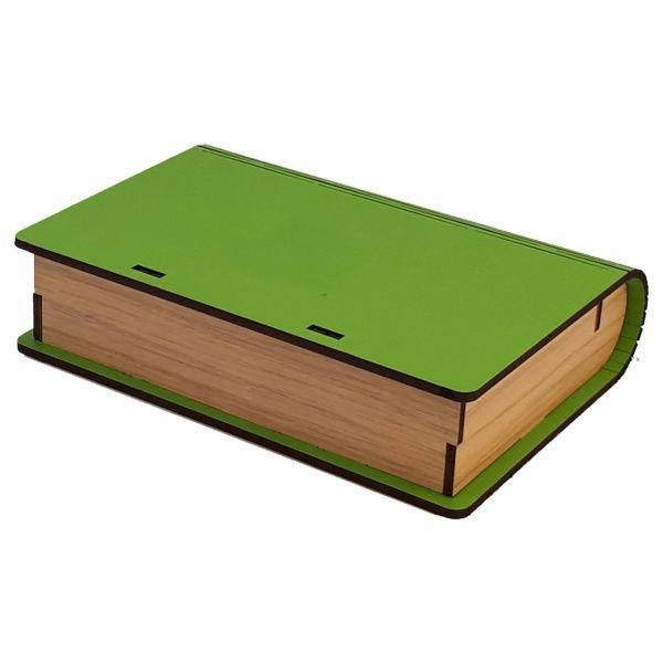 جعبه چای کیسه ای عشقی مدل کتابی سبز
