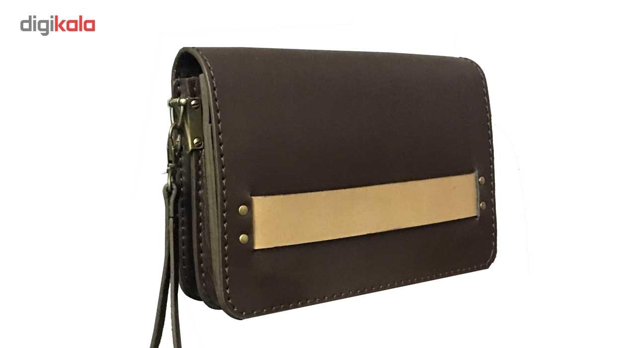 کیف دستی مردانه چرم طبیعی گلیما مدل 210