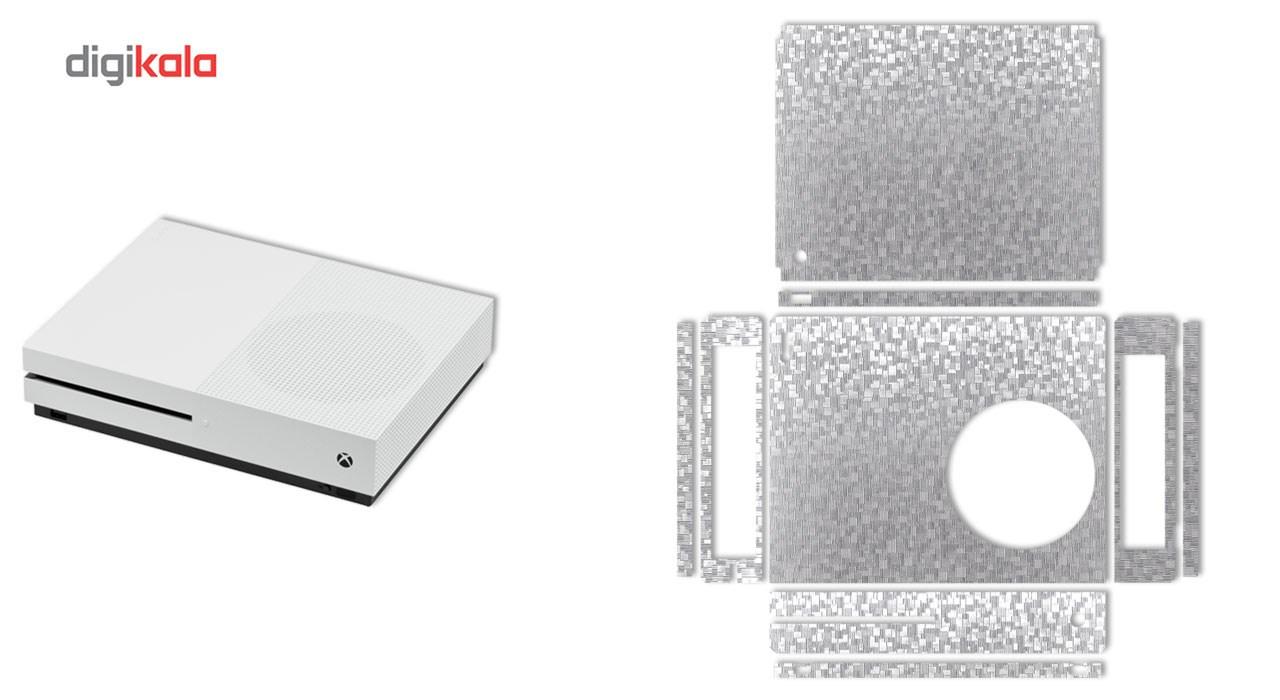 برچسب ماهوت مدلSilver Silicon Texture مناسب برای کنسول بازی Xbox One S