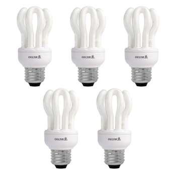 لامپ کم مصرف 11 وات دلتا مدل لوتوس پایه E27 بسته 5 عددی