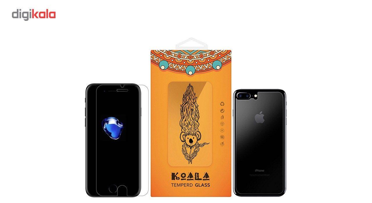 محافظ صفحه نمایش شیشه ای Tempered و پشت شیشه ای Tempered کوالا مناسب برای گوشی موبایل اپل آیفون 7 پلاس main 1 1