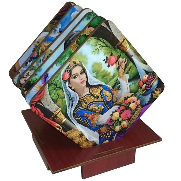 زیرلیوانی ژیوار طرح نقاشی ایرانی بسته 6 عددی