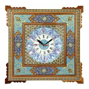 ساعت دیواری خاتم کاری گالری گوهران مدل مینیاتور 1222