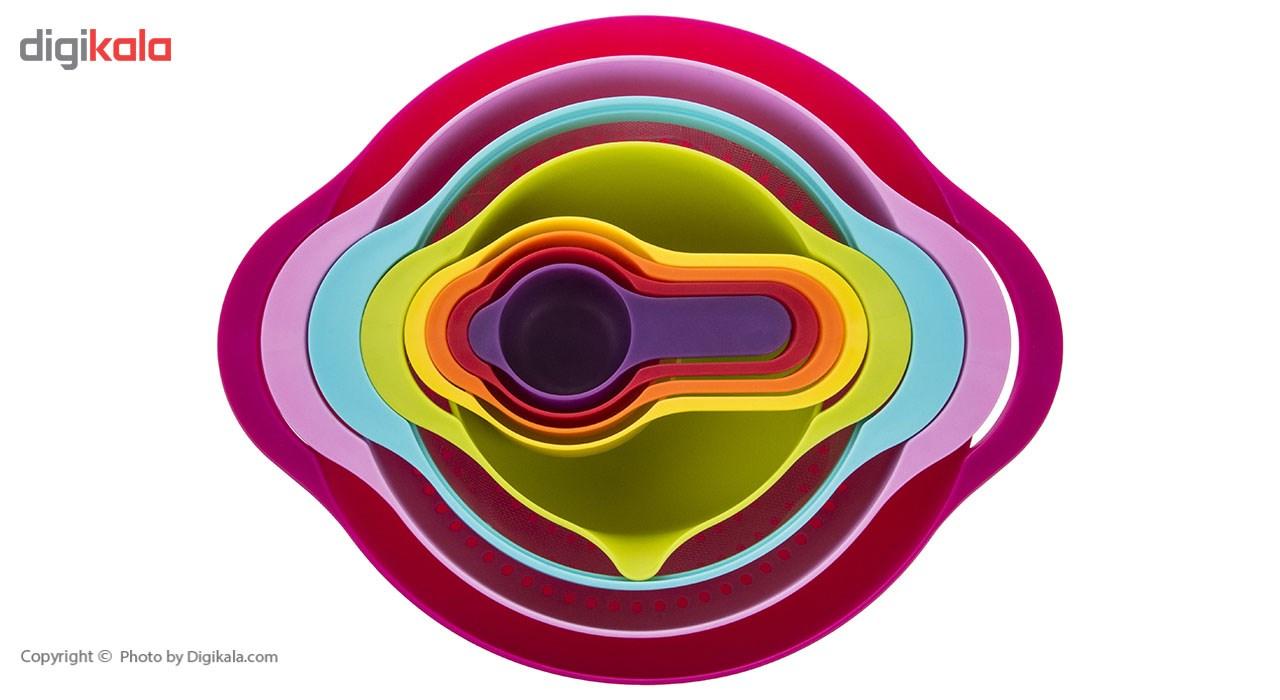 مجموعه کاسه و پیمانه مدل رنگین کمان