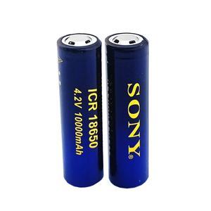 باتری لیتیوم یون قابل شارژ سونی مدل ICR-18650 ظرفیت 10000 میلی آمپرساعت بسته 2 عددی