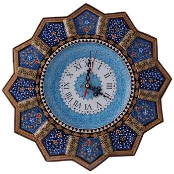 ساعت دیواری خاتم کاری و میناکاری مارکت لند کد Mkh172