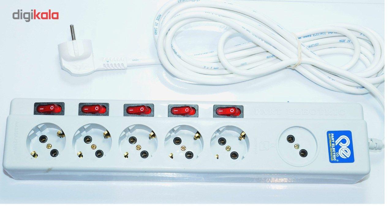 چند راهی برق پارت الکتریک مدل F-0644 main 1 3