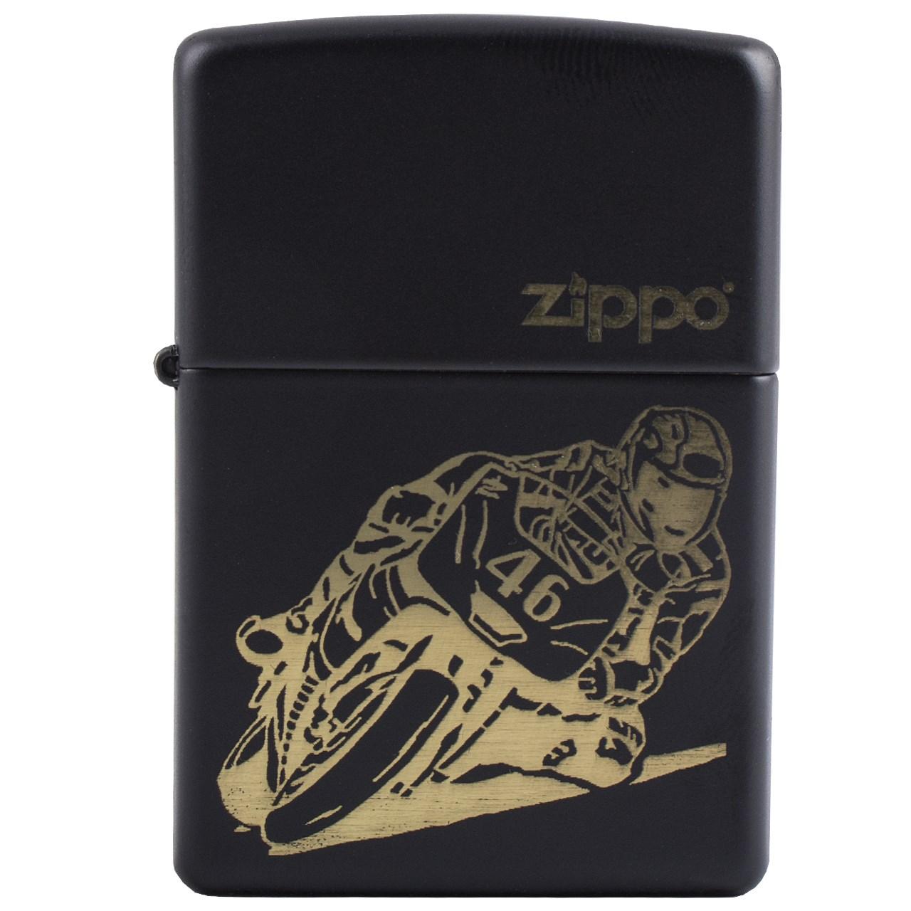 فندک زیپو مدل Motorcycle Racing کد 29471