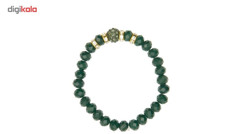 دستبند آرامیس مدل گوی های سبز C204