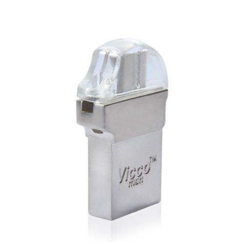 فلش مموری ویکو من مدل vc130OTG USB3 SILVER ظرفیت 32گیگابایت