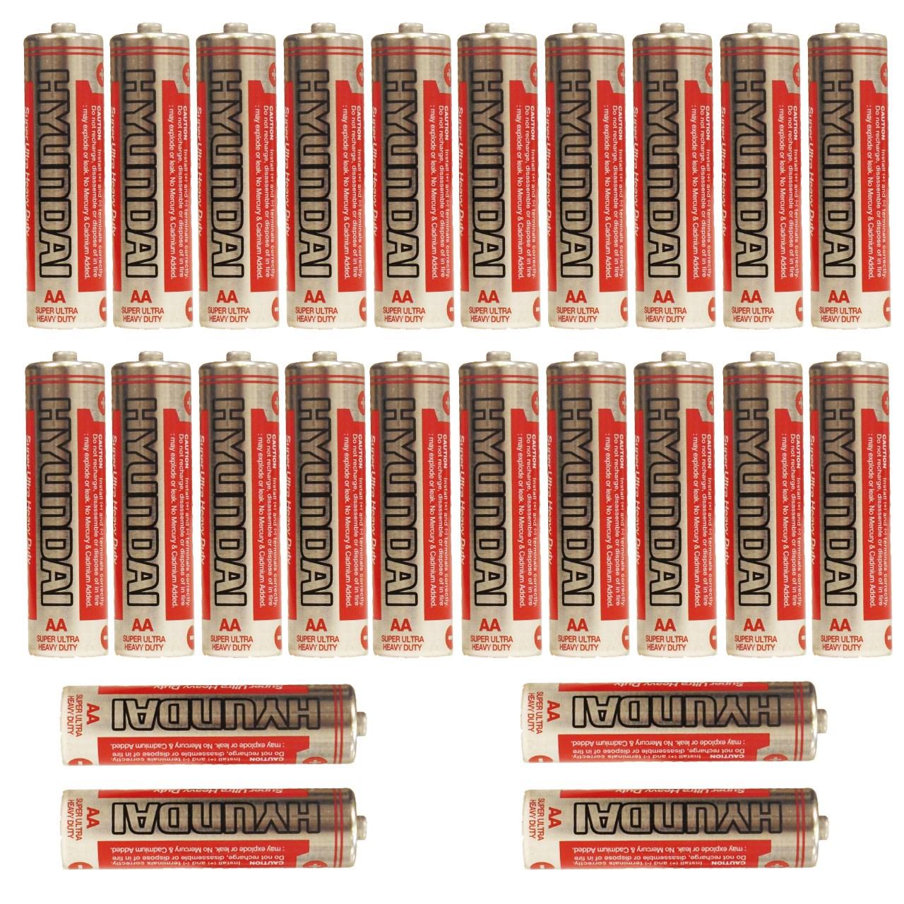 باتری قلمی هیوندای مدل Super Ultra Heavy Duty بسته 24 عددی