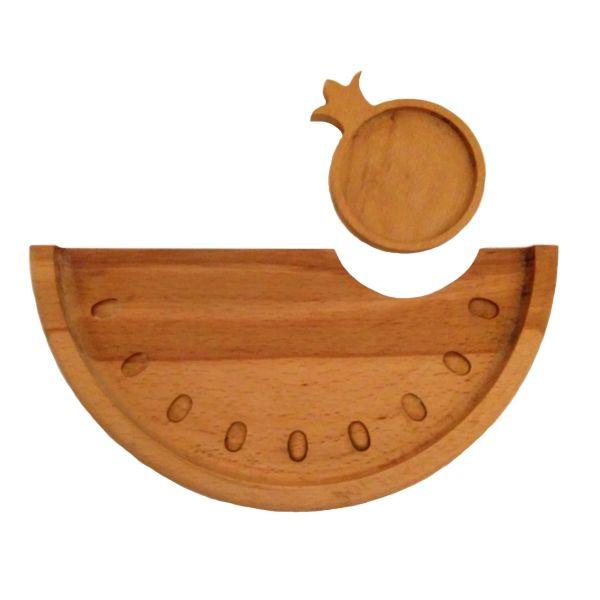 سینی چوبی تی دار مدل یلدا Tt01