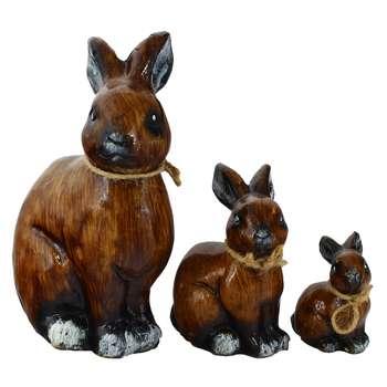 مجسمه طرح خرگوش کد 020020108 مجموعه 3 عددی