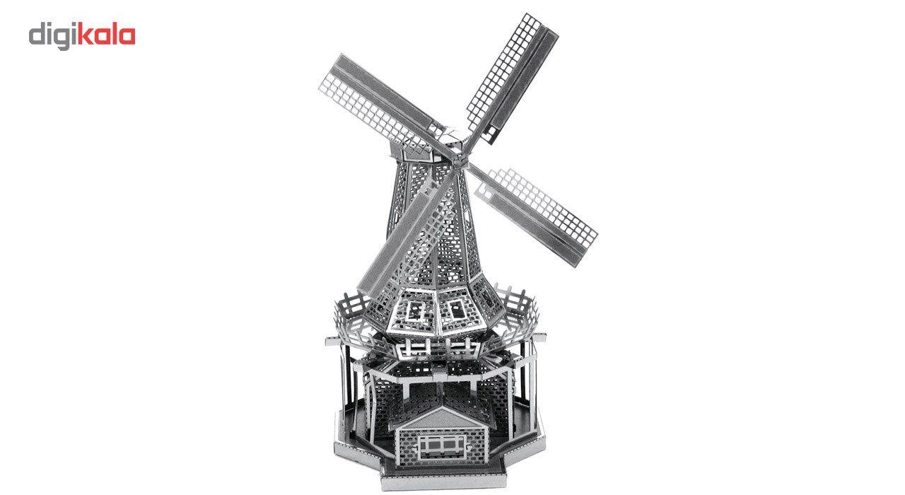 پازل سه بعدی فلزی مدل آسیاب بادی