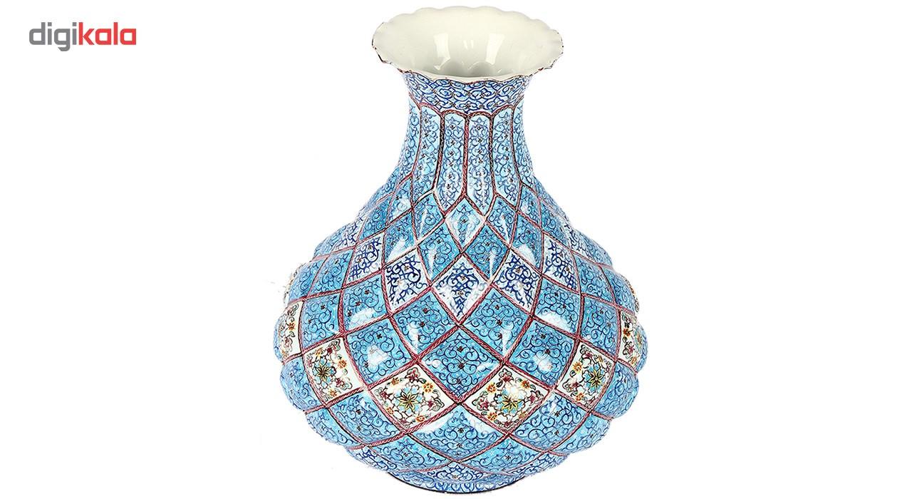 گلدان مسی میناکاری گالری گوهران مدل تنگ بزرگ - 1102