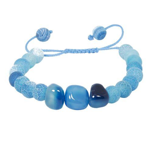 دستبند نوژین مدل سنگ آبی