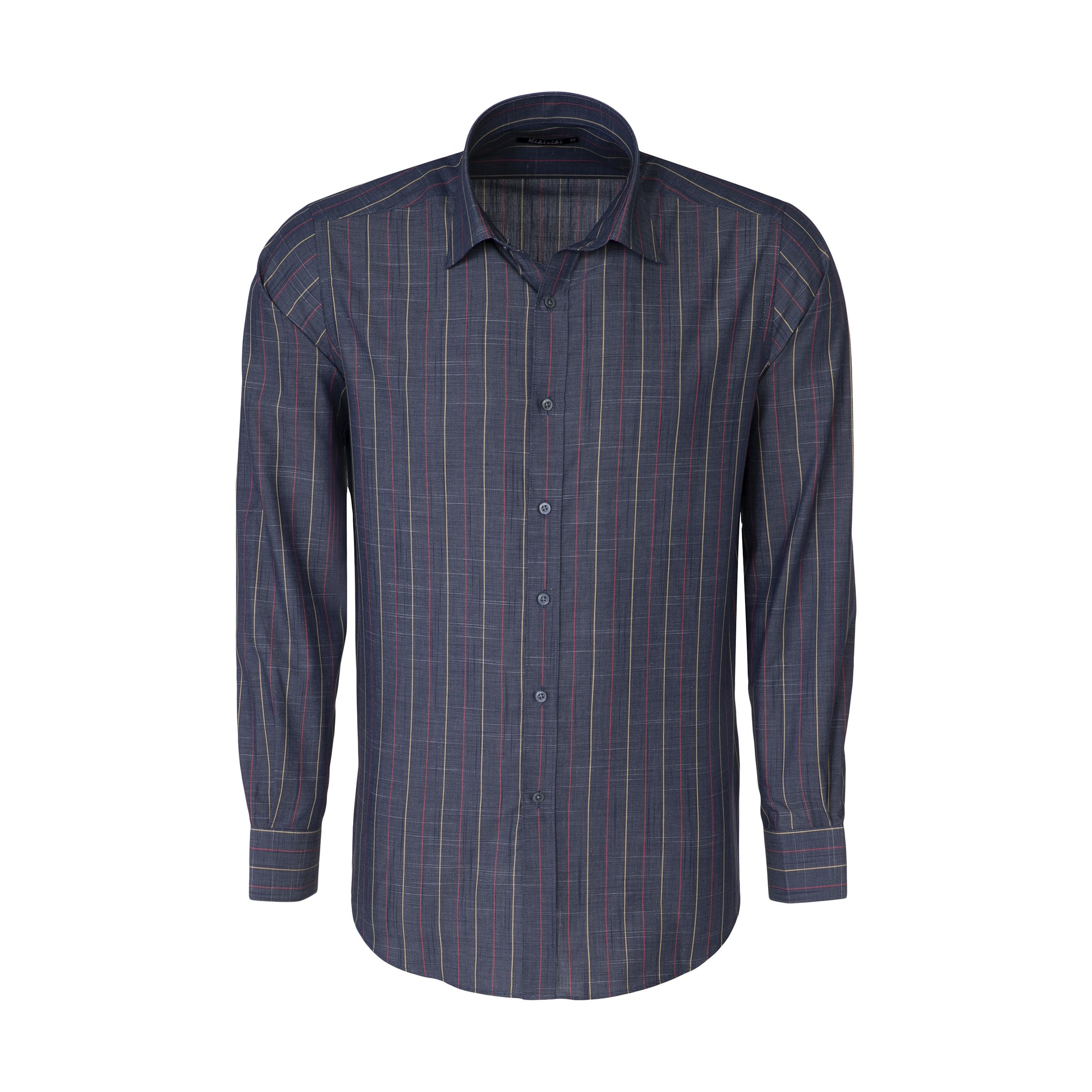 پیراهن آستین بلند مردانه کیکی رایکی مدل MBB2400-001