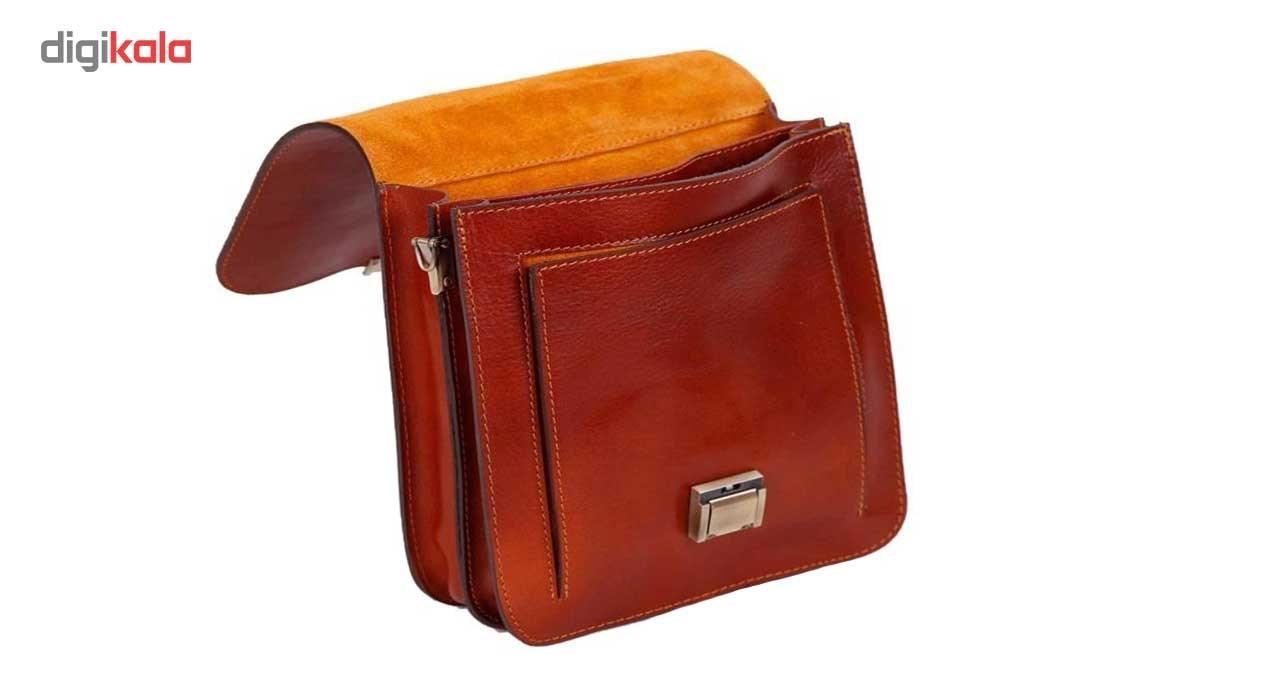 کیف اداری چرم طبیعی زانکو چرم مدل KM-502