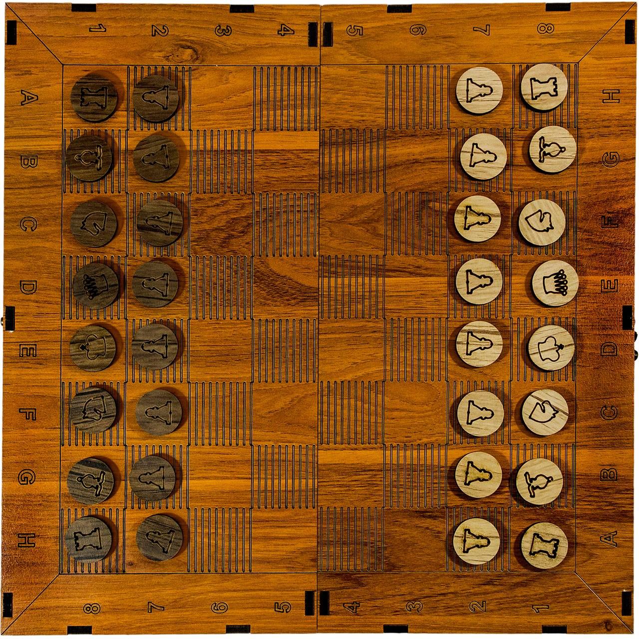شطرنج چوبی کینگ مدل 3in1
