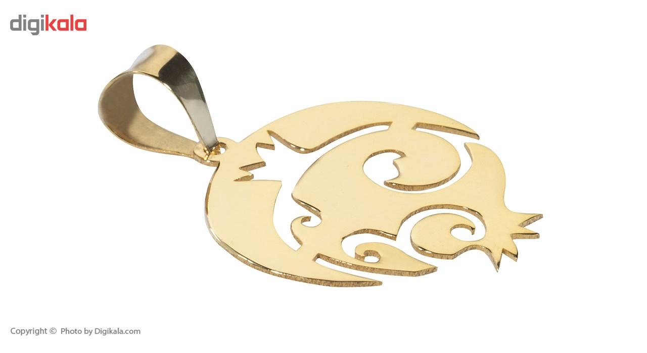 آویز گردنبند طلا 18 عیار ماهک مدل MM0596 - مایا ماهک