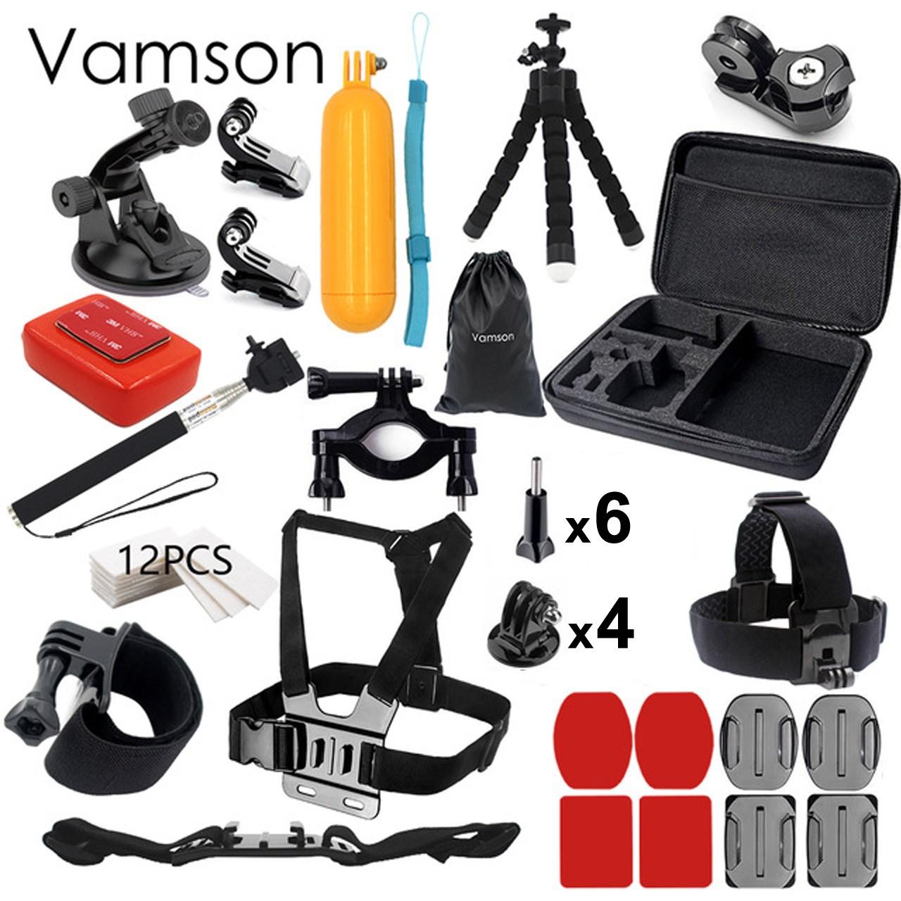 کیف لوازم جانبی ومسان مدل 45 تکه مناسب برای دوربین های ورزشی گوپرو و شیائومی و سونی